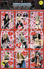 Heavy Metal Heroes Valentine's Day Cards