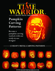 Heavy Metal Pumpkin Carving Patterns Book