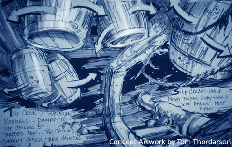 Thor original concept designs for Tokyo Disney Sea's 20,000 Leagues Under the Sea ride