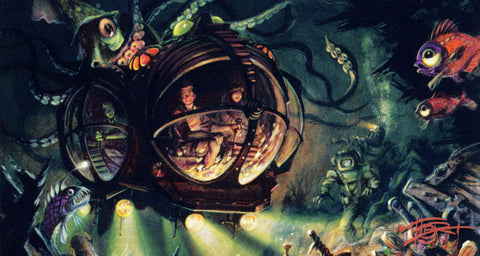 20,000 Leagues Under the Sea ride concept and sketch by Tom Thordarson