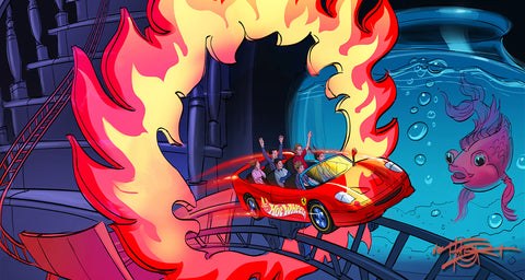 Hotwheels adventure ride concept and design by THOR Art