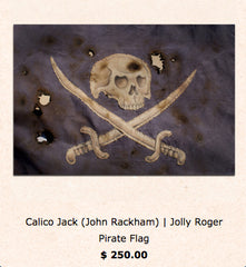 Pirate flags recreated after real pirates from the 1800's by Tom Thordarson Art
