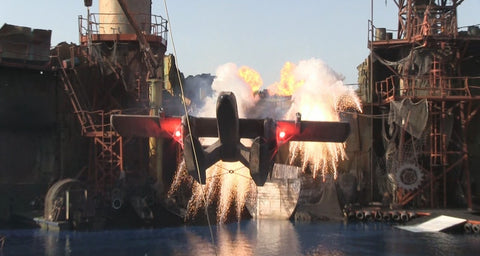 Water World stunt show at Universal Studios concept design by Tom Thordarson