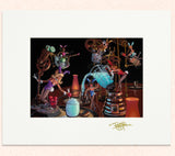 Matted print of Bunny Dippin Daiquiri Doohicky with gold leaf Thor signature