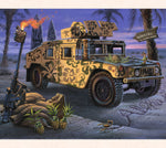 Tom Thordarson has dedicated this military themed art to our solders in the Middle East fighting for our Country.