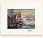 Matted print of Lil' Lanai Off Molokai with gold leaf Thor signature