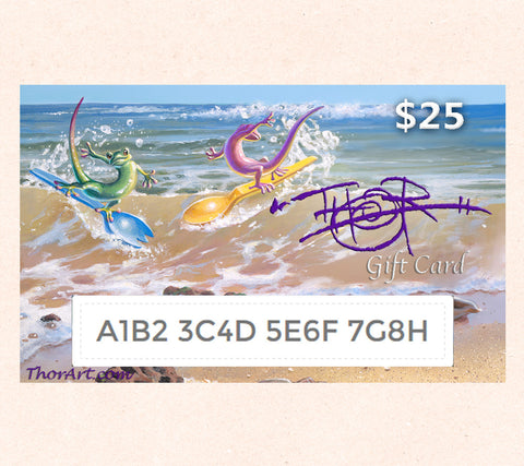 $25 Gift Card featuring Tom Thordarson's fantasy artwork Water Sporks