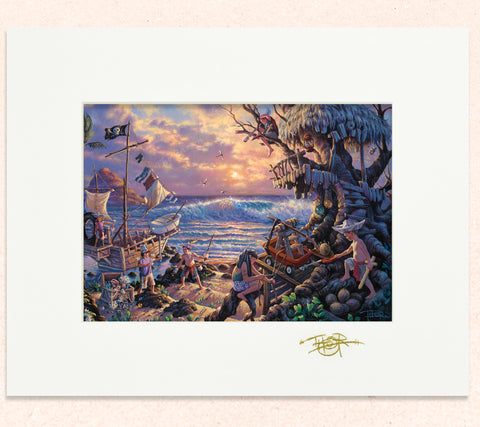 Matted print of Swashbuckler Sunrise with gold leaf Thor signature