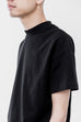 BLACK MOCK NECK TEE SHIRT