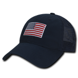 Polo Style USA American Flag Hat Baseball Cap Trucker WRA 1017