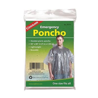 Coghlan's Coghlans 9173, Emergency Rain Poncho Fishing Camping Hiking Sport Game