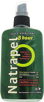 DEET FREE AMK Natrapel 8 Hr Tick/Insect Bug Repellent 3.4oz Spray Camping Hiking