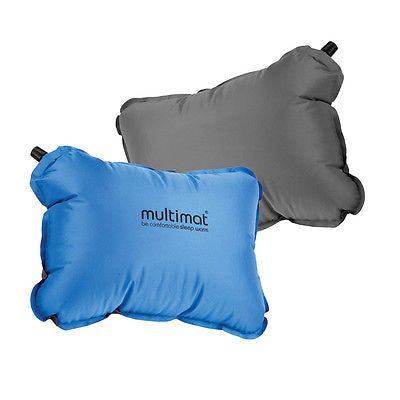 MULTIMAT CAMPER PILLOW BLUE/GRAY MILITARY TACTICAL CAMPING TRAVEL SLEEPING RV