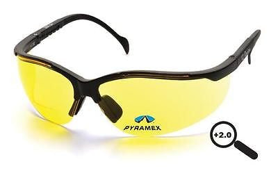 Pyramex V2 Readers +2.0 Lens Safety Glasses SB1830R20 Job Sun Sport Eyewear ANSI