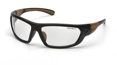 Carhartt Carbondale Black/Tan Frame Safety Glasses Indoor Impact Protection Lens