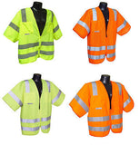 SV83 Standard Class 3 Safety Vest ANSI/ISEA 107-2010 Solid or Mesh Construction