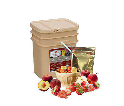 120 Serving Freeze Dried FRUIT Bucket Wise Food Supply Survival Camping