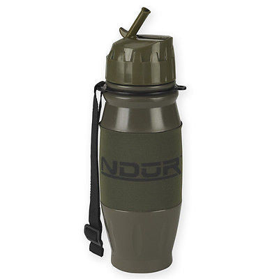 NDUR 28oz FLIP TOP WATER FILTRATION BOTTLE OLIVE ARMY SURVIVAL HIKE TRAVEL 52000