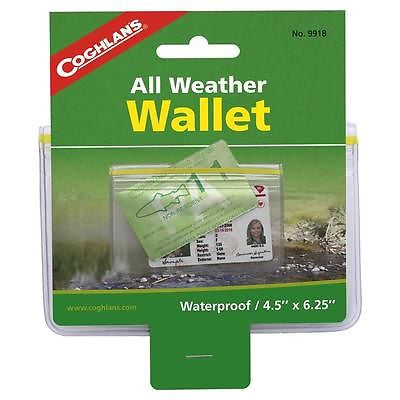 Coghlan's All-Weather Waterproof Dry Pouch Wallet- Protect Cards License Gear