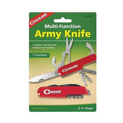 Coghlan's Army Pocket Knife Multifunction Blades- Camping Fishing Scouts Hunting