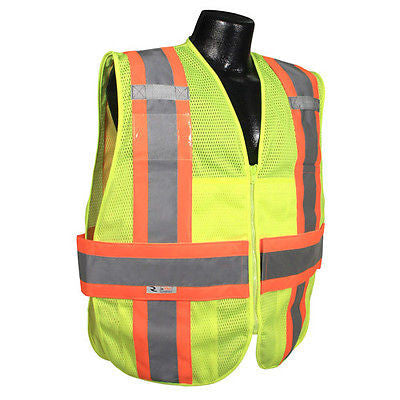 Expandable Two Tone Safety Vest- Size XL/2X - ANSI/ISEA 107-2010 Class 2 #SV23-2
