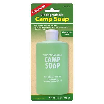 Coghlan's 4 oz. Camp Soap- Cleaning Clothes Dishes Utensils Cookware Body Shower