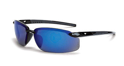 Radians Crossfire ES5 Tactical Safety Glasses Sun Sports Work Blue Mirror 2968