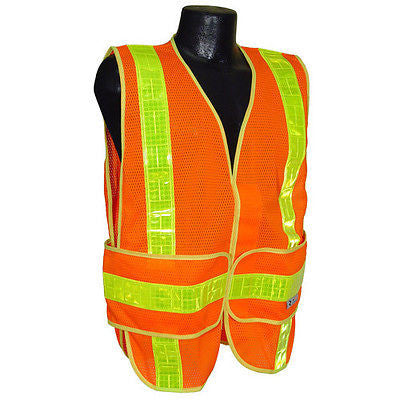 CHV Chevron Class 2 Mesh Work Crew Safety Vest Hi Visibility ANSI/ISEA107-2010