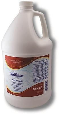 Case of 4 Clean life No Rinse Peri-Wash 1 Gal-Gentle Effective Perineal Cleanser