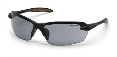 Carhartt Spokane CHB320D Gray Lens Sports Outdoor Safety Glasses w/Black Frames