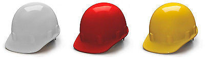 Job Hard Hats- Sleek Shell Cap Style 4 Point Ratchet Suspension Pyramex HPS14110