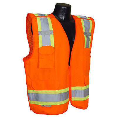 SV46 Surveyor Breakaway Job Safety Vest ANSI/ISEA 107-2010 Class 2- Size 4XL