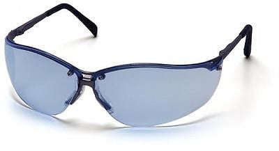 Pyramex V2-Metal Blue Curved Lenses Safety Glasses SGM1860S Job Sports Eyewear