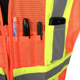 Expandable Two Tone Safety Vest- Size 3X/5X - ANSI/ISEA 107-2010 Class 2 #SV23-2