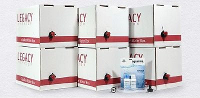 Legacy Emergency Water 6 Month Supply Box Kit Aquamira Stack Containers Survival