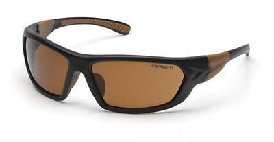 Carhartt Carbondale Black/Tan Frame Sports Sun Safety Glasses Sandstone Bronze