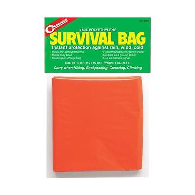 Coghlan's Survival Bag Emergency Shelter- Ground Cover Signaling Gear Storage
