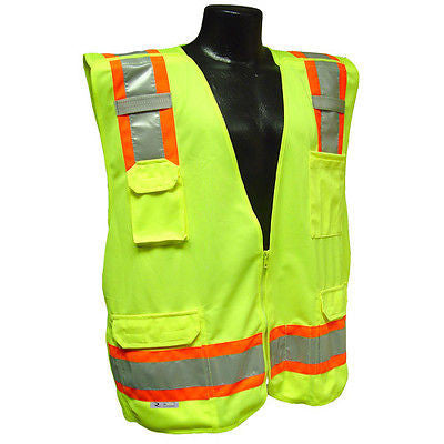SV46 Surveyor Breakaway Job Safety Vest ANSI/ISEA 107-2010 Class 2- Size 3XL