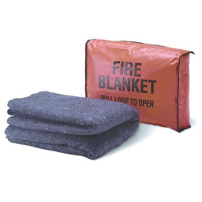 Mayday Emergency Survival Fire Blanket 6'x4' Treated Wool W/Cover-Tactical EE37C