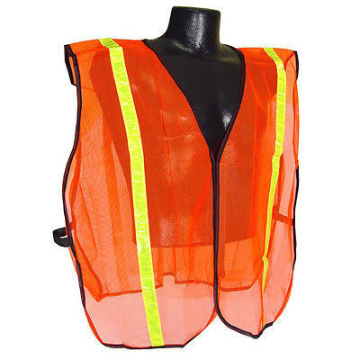 "Safety Vest High Visible 1"" Tape Traffic Industrial Events Guard Security Work"