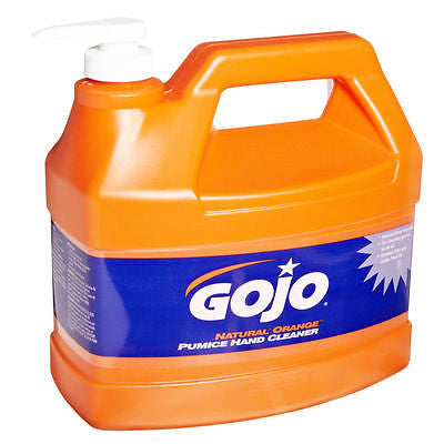 GoJo 1 Gallon Natural Orange Citrus Pumice Grease Tar Oil Hand Cleaners 0955-04