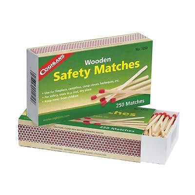 Coghlan's #1250 Wooden Safety Matches- Lighting Fires Stoves Grills