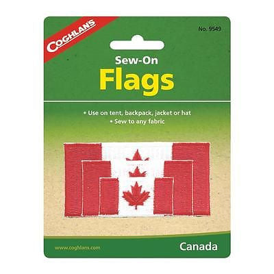 Coghlan's Sew-On Canadian Flag Patch- Canada for Jackets Hats Gear Bags Clothes