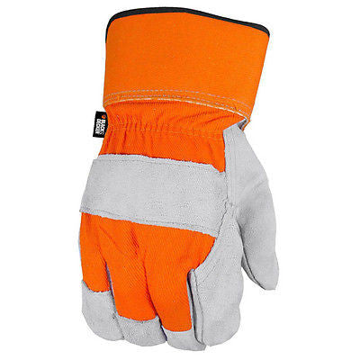 Black & Decker BD520 Leather Palm Gloves General Utility Job Safety Tool Work