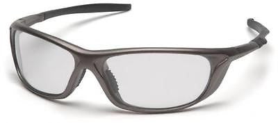 Pyramex Azera SP4410D Clear Lens Pewter Safety Glasses Sport Eyewear ANSI Z87.1+