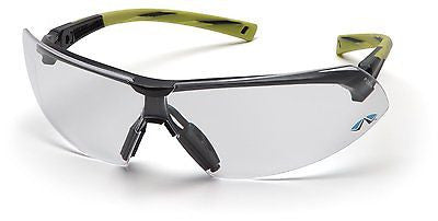 Pyramex Onix SGR4910ST Clear Anti-Fog Lens Hi Viz Green Safety Glasses Eyewear