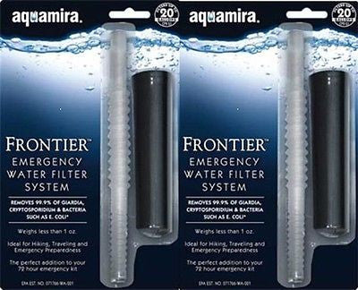 Aquamira Frontier Emergency Water Filter System (2 pack) #67017
