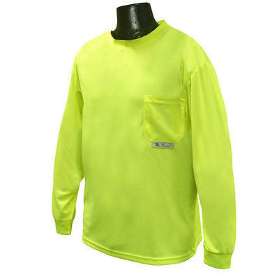 ST21-N Non-Rated Long Sleeve Safety T-shirt with/Max-Dri Cooling Birds Eye Mesh