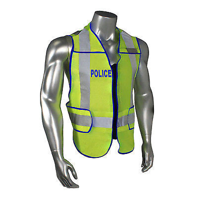 Police Law Enforcement Traffic Breakaway Green Reflective Safety Vest Radians 3M