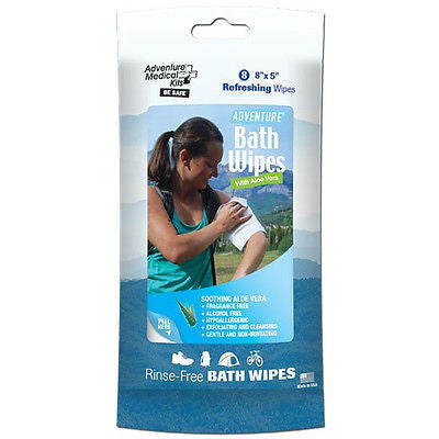 Adventure Medical Kits Fresh Clean Bath Travel Size Wipes- 8 per pack-Camping RV
